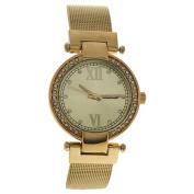 Antoneli Al0500-04 Gold Stainless Steel Mesh Bracelet Watch Watch For Women 1 Pc