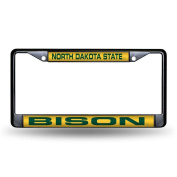 Rico Industries North Dakota State Bison Ncaa Laser Cut Black Licence Plate Frame
