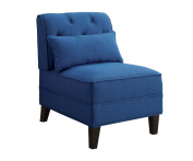 ACME Furniture 59613 Susanna Accent Chair with Pillow, Blue Linen