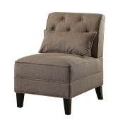 ACME Furniture 59612 Susanna Accent Chair with Pillow, Charcoal Linen
