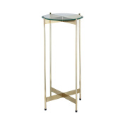 1 Wall Street Gold Accent Table
