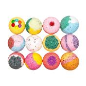 Kids Dream Bath Bomb Gift Set - Large Bath Bomb 160ml - Coconut Oil - Kaolin Clay - Skin Moisturisers - Aromatherapy Bath- Add to Bubble Bath (12 Bath Bombs Gift Set)