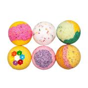 Kids Dream Bath Bomb Gift Set - Large Bath Bomb 160ml - Coconut Oil - Kaolin Clay - Skin Moisturisers - Aromatherapy Bath- Add to Bubble Bath (6 Bath Bombs Gift Set)