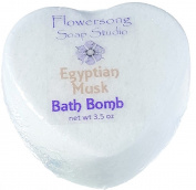 Egyptian Musk Bath Bomb - Subtle Feminine Musk - Fizzy Skin Softening Relaxation
