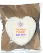 Cinnamon Pumpkin Bath Bomb - Delicious Warm Spice Scent - Fizzy Skin Softening Relaxation