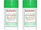 NutriBiotic Unscented Deodorant (Pack of 2) with Witch Hazel Extract, Grapefruit Seed Extract and Aloe Vera Gel, Vegan, Aluminium and Paraben free, 80ml