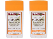 NutriBiotic Mango Melon Deodorant (Pack of 2) with Witch Hazel Extract, Grapefruit Seed Extract and Aloe Vera Gel, Vegan, Aluminium and Paraben free, 80ml
