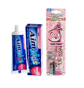 Ready...Set...Brush! Firefly Angry Birds Pink Turbo Power Soft Toothbrush! Plus Bonus Aim Kids Mega Bubble Berry Gel Toothpaste, 140ml