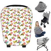 Nursing Breastfeeding Cover Scarf Apron, Baby Car Seat Canopy, Shopping Cart, Stroller, Carseat Covers Baby Shower Gift for Newborns Girls Boys Infants Toddlers Multi Use Stretchy Shawl