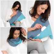 """Mania Breastfeeding scarf """"Starfever"""" with small pocket for nursing pads in size S/M"""