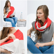 """Mania Breastfeeding scarf """"Cosmic"""" with small pocket for nursing pads in size L/XL"""