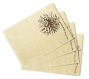 Elegance Dahlia Flowers-1 Print Canvas Table Mats Placemats 33cm x 48cm Set of 4