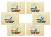 Prague-2 Printed Canvas Table Mats Placemats 33cm x 48cm Set of 6
