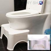 Kids Non Slip Toilet Bathroom Bath Squat Step Stool Platform Sit Step Chair Shower Stool White Colour