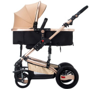 SUBBYE Pushchairs Baby Stroller High Landscape Can Sit Can Lie Down Fold Baby Multifunction Two-way Four-wheeled Vehicle Four Seasons Universal Folding Portable Baby Pushchair