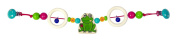Hess 12975 Wooden Frog with Beetle Carriage Chain Baby Toy, 47 cm
