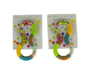 Dasuke Twist and Turn Rattles Set of 2 Encouraging your Baby to Grasp and Reach 6 Months +