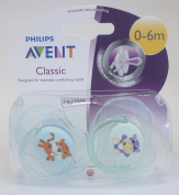 Philips Avent Classic Soother Twin Pack 0-6m