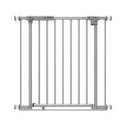 Stellar Night Glow Safe Step Auto Close LED Gate, Silver