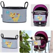Homgaty Baby Pram Stroller Organiser Hanging Bag,Waterproof Buggy Storage Bag