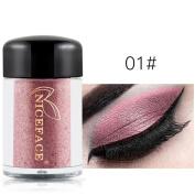 Eyeshadow, Hometom Waterproof Eye Shadow Makeup Pearl Metallic Eyeshadow Palette