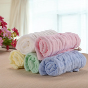 "PChero 5 PCS (25cm x 10"") Baby Muslin Washcloth and Towel for Sensitive Skin, Natural Organic Cotton Baby Wipes Soft Towels - Great Baby Shower Gift"