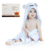 Hooded Baby Towel Thick and Soft | 100% Natural Cotton | Large Size 90cm by 90cm , for Infant and Toddler