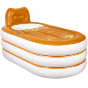 TOYM US Home European Inflatable Tub Adult Folding Plastic Bath Tub Adult Barrels