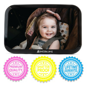 Baby Backseat Mirror for Car - Safely Monitor Infant Child in Rear Facing Car Seat - Wide View Shatterproof Adjustable Acrylic 360° - Best Newborn Car Seat Accessories