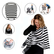 Nursing Breastfeeding Covers and Car Seat Canopy for Baby Girls and Boys, Multi-use Covers for Shopping Cart, High Chair, Stroller, Carseat --Infinity Nursing Cover Scarf Perfect Gift for New Moms