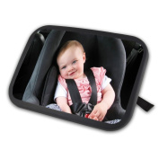 Baby Back Seat Mirror,BeiLan Adjustable Baby Car Seat Mirror for Baby & Mom Rear View Baby Mirror Easily Watch your Precious Child in Car