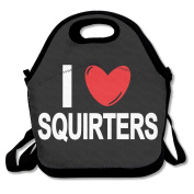 I Love SQUIRTERS Lunch Bag Adjustable Strap