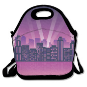 City Lights Lunch Bag Adjustable Strap