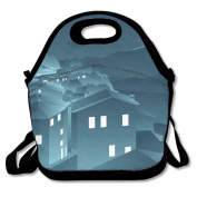 Shooting Star Night Lunch Bag Adjustable Strap