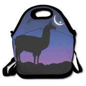 Llama Sillhouette Night Lunch Bag Adjustable Strap