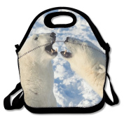 Polar Bears Lunch Bag Adjustable Strap