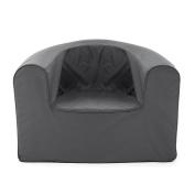 PopLounge Expandable Foam Furniture Armchair, Castlerock Grey, 90cm x 70cm x 70cm