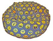 Ahh! Products Emojis Fleece Washable Large Bean Bag Chair Plush