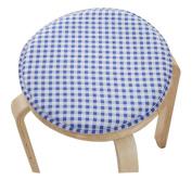 Creative Round Stool Cushion Warm Sponge Pad Bar Stool Mat Blue