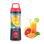 Letoo Portable Blender USB Juicer Cup, Juicer Machine 380ml Bottle,10000mAh with USB Charger Fruit Mixing Machine Personal Size Rechargeable Juice Blender and Mixer, High-Speed to Mix Ice, fruits.