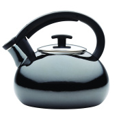 Anolon 59925 Allume Tea Kettles Enamel on Steel Tea Kettle, 1.9l, Onyx