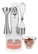 Kalorik Combination Mixer with Mixing Cup/Chopper and Whisk, White