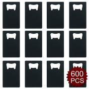 Aspire Credit Card Bottle Opener for Your Wallet Bulk Stainless Steel Bottle Opener Wholesale Lot-Black-600 PCS