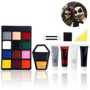 PBPBOX Halloween Makeup Face Paint Kit for Zombie Vampire