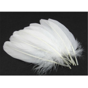 "Hofumix Natural Feather White Goose Feathers 4-6"" Real Feathers for Wedding Party DIY Decor Arts and Crafts"