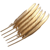 WAKEACE goose feathers simulation gold 10 pieces / 10PCS 12-14 inch / 30-35CM DIY costume design wedding decoration craft furniture