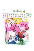 Playside Creations, Glitter Alphabet Foam Stickers, Bright Colours, 297 Pieces