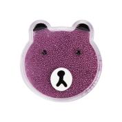 Mybat Bear/Purple Quicksand Glitter Sticker