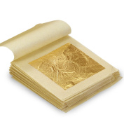 10X Facial Gold Leaf Genuine Edible Food Cake Decor Gilding Foil 4.33 X 4.33cm 24K Pure