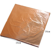 1000 sheets 16 X 16cm Rose gold Imitation gold leaf foil red genuine 100% copper leaf #0 Luxurious